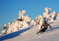 Первый снегопад прошел на финском курорте Рука