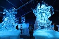 В Брюсселе проходит выставка ледяных скульптур