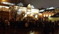 Экспонаты Третьяковки были спроецированы на ее фасаде