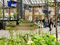Железнодорожный вокзал финской столицы может похвастаться красивым садом