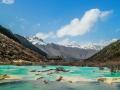 Террасы долины Хуанлун в Китае